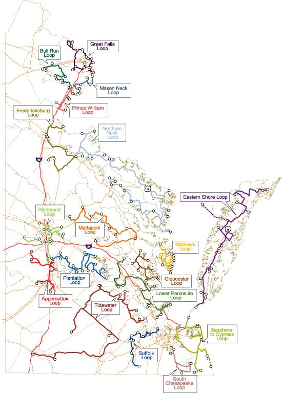 VBWT Coastal Loop Map