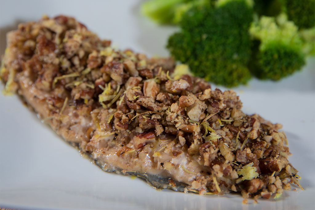 Pecan Crusted Rosemary Trout