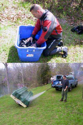Zebra mussels - cleaning